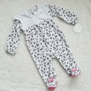 NWT Baby Girls Long Sleeve Footed One Piece